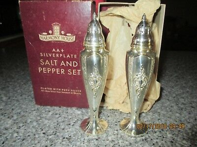 Harmony House Maytime Silverplate  Salt And Pepper Set