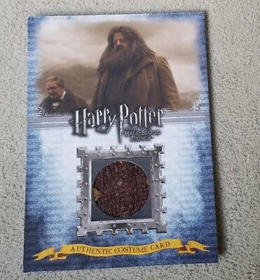 Harry Potter Half Blood Prince Hagrid Costume Card C4 102/480