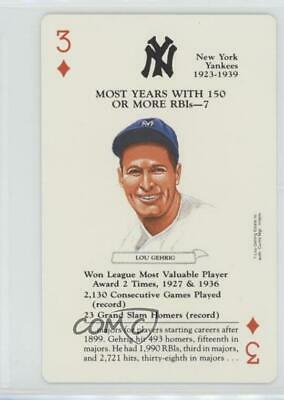 1991 Baseball Legends Playing Cards Box Set #3D Lou Gehrig New York Yankees Card
