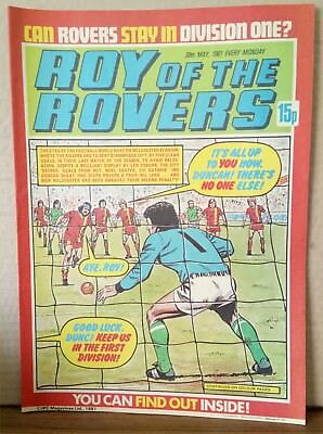 Roy of the Rovers Comic in very good condition dated 30th May 1981