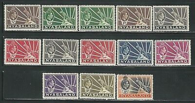 Nyasaland: Scott 54-62, Leopard and 54A, 55A, 56A, 57A, mint NH. NY10
