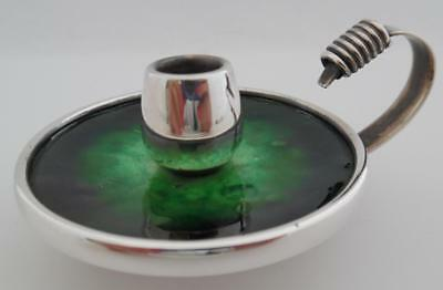 Vintage Antique 915 Silver & Enamel Candlestick by Spanish/French BAGUES (ST12