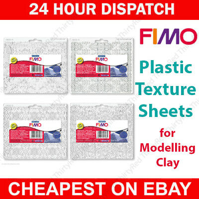 Staedtler FIMO Plastic Texture Sheets For Modelling Clay - 8 Designs