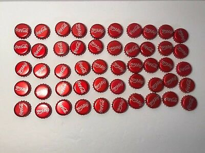 Lot of 50 Coca-Cola Used Metal Bottle Caps For Craft Projects from Mexican Coke