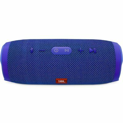 JBL Charge 3 Waterproof Portable Rechargeable Bluetooth Wireless Speaker, Blue