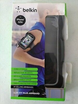 Brand New Belkin iPhone 6/6s SLIM-FIT Plus Armband Black