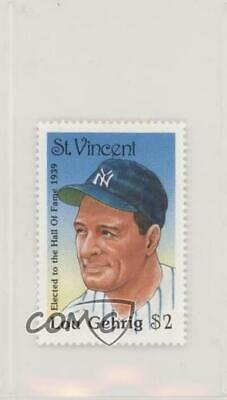 1992 St Vincent Hall of Fame Heroes Stamps Lou Gehrig New York Yankees Card