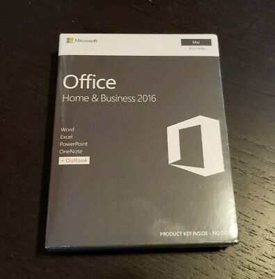 BRAND NEW Microsoft Office 2016 Home and Business Word Excel Outlook Mac