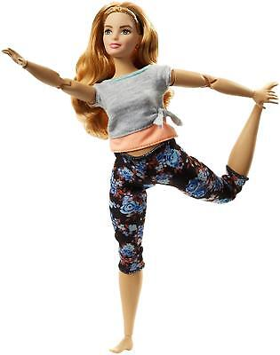 New 2018 Barbie Made to Move Curvy Body Doll Pale Skin Strawberry Blond