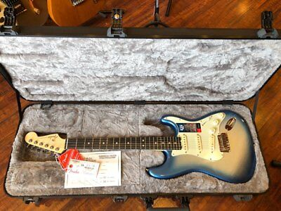 Fender American Elite Stratocaster-Sky Burst Metallic Electric Guitar with Ebony