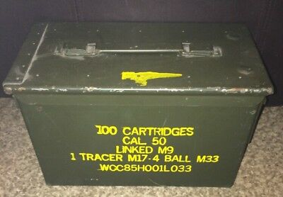 FAT 50 CAL PA108 SAW BOX AMMO CAN VERY GOOD CONDITION FREE SHIPPING *