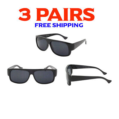 9824a766bf 3 Pack Bulk Lot Wholesale Gangster Sunglasses EAZY E Super Dark Old School  Locs