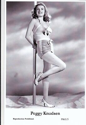 PEGGY  KNUDSEN - hollywood  MOVIE star  PIN-UP/CHEESECAKE  modern 2000 postcard