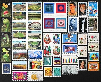 US 2001 Commemorative Year Set collection of 50 stamps, including Airmails MNH