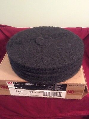 Case 3M Black Stripper Pads Model 7200 Size 13 Inch  Janitorial Supplies