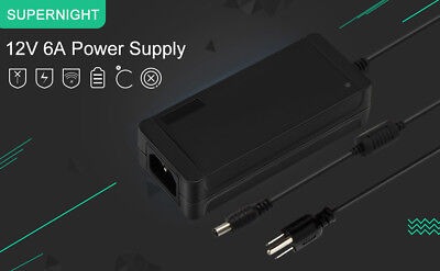 10X AC to DC 12V 6A 72W Power Supply Adapter for 5050/3528/5630 LED Strip Light