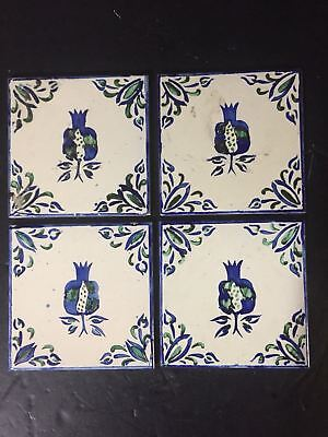 ANTIQUE DELFT BLUE White TILES SPANISH X Bird Backsplash Accent - 6x6 accent tiles
