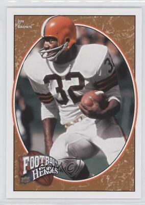 2008 Upper Deck Football Heroes Red/75 #226 Jim Brown Cleveland Browns Card