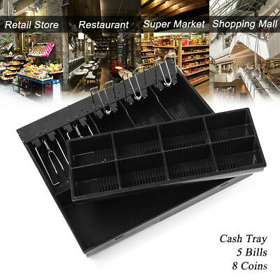 5 Bills 8 Coin Money Cash Drawer Tray Till Insert Cashier Storage Box 410 Series