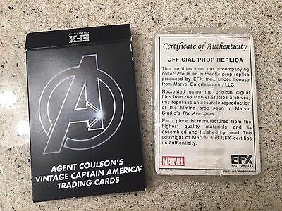 Agent Coulson's Vintage Captain America Trading Card Nerd Block Brand New Sealed