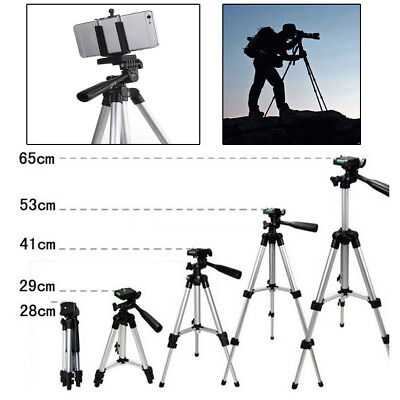 Camcorder Camera Tripod Stand + Phone Holder for Samsung iPhone Canon Nikon Sony