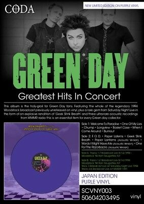 GREEN DAY - GREATEST HITS IN CONCERT - LTD Purple vinyl - New & sealed Vinyl Lp