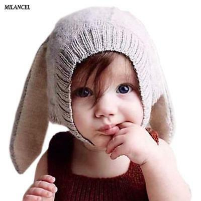 Baby Rabbit Ears Hat Infant Toddler Autumn Winter Knitted Caps for Children Baby