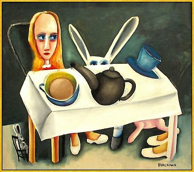 "CHARLES BLACKMAN ""Feet Beneath the Table"" Signed, Ltd Edition on Canvas FRAMED"