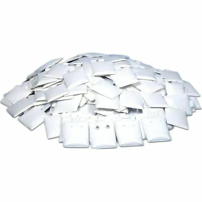 """200 White Puff Earring Cards 1 1/2"""" x 1 3/4"""""""