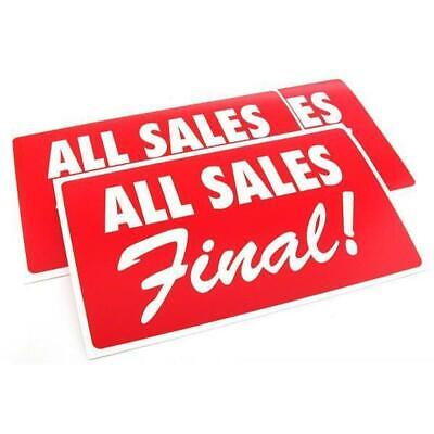 3 All Sales Final Plastic Message Display Signs