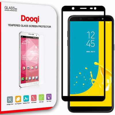 Dooqi For Samsung Galaxy J8 2018 Full Cover Tempered Glass Screen Protector