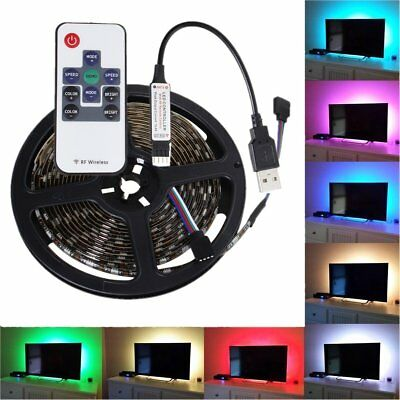 DC 5V 5050 RGB LED Strip Waterproof USB LED Light Strips Flexible Tape 0.5M-5M