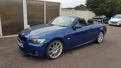 **immaculate** 2007 Bmw 320I M Sport Convertible Manual Petrol Le Mans Blue