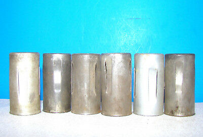 lot 6 radio vacuum tubes heat shield covers 9 pin 6CS7 6FQ7 12BY7A 12BH7 6CG7