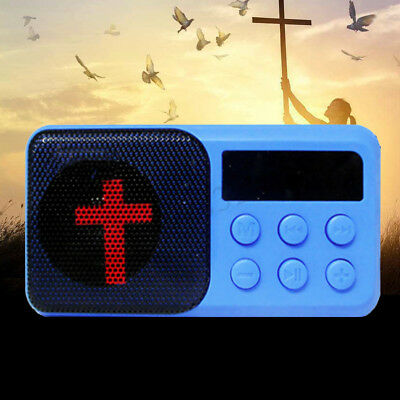 Rechargeable Electronic Bible Audio Player Talking Speaker TF LED Blue/White
