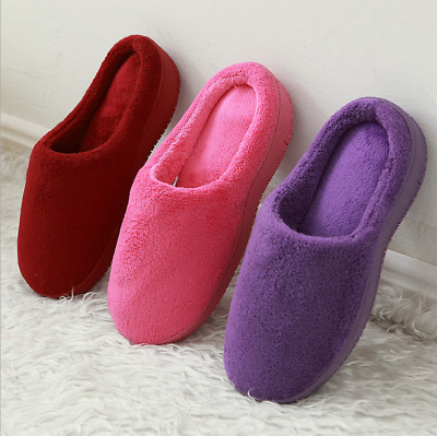 Slippers House Womens Soft Coral Fleece Memory Foam Shoes Indoor/Outdoor