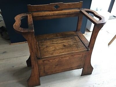 Small Antique Monks Bench, Settle, Hall Storage, Lovely Chair, NO RESERVE