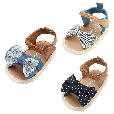 Baby Toddlers Kids Girl Soft Sole Crib Toddler Summer Princess Sandals Shoes