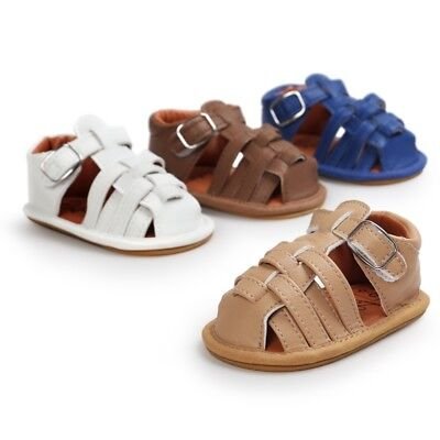 Toddler Kid Baby Boy Girl Sandals Leather Soft Sole Casual Summer Weave Shoes AU