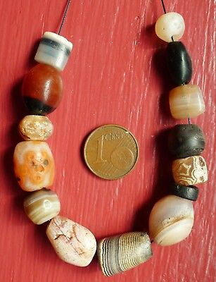 Perle Ancien Ancient Roman Indian Bactrian Suleimani Banded Agate Carnelian Bead