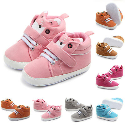 Infant Newborn Baby Boy Girl Soft Sole Cotton Anti-slip Shoes Sneaker Prewalker