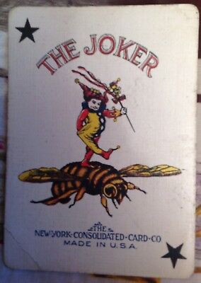 Playing Cards in orig box ECLIPSE 432 - Jester on Buble Bee on Joker 53 cards