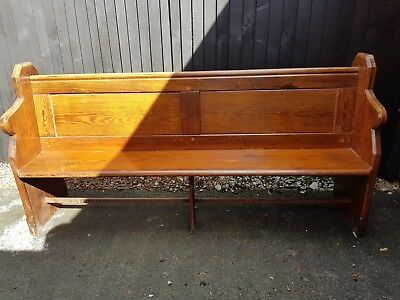 Old Pine Church Pew - Free Local Delivery