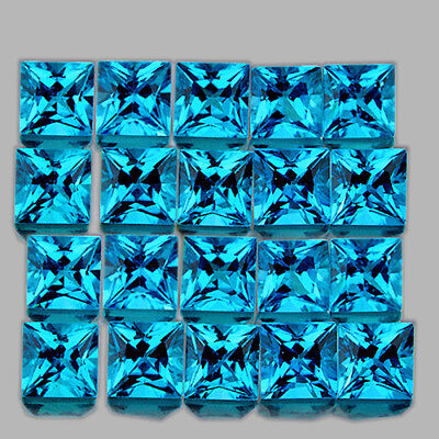 2.30 mm SQUARE 35 PIECES EXTREME BRILLIANCY NATURAL SWISS BLUE TOPAZ [IF-VVS]