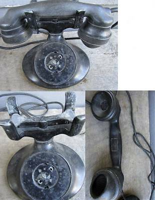 ANTIQUE WESTERN ELECTRIC D1 / E1 TELEPHONE w/ RINGER BOX