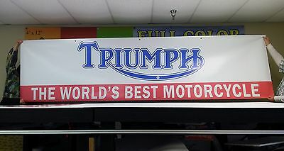Huge Triumph Dealer Vintage Style logo Banner Sign Flag version 2
