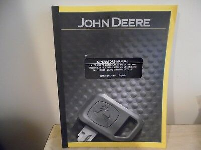 john deere operators manual LX series lawn tractors copyright 1997