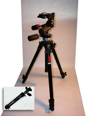 BOGEN Manfrotto Black Professional Tripod #3205 with 3-Way #3047 Pan Head