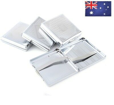 AU Ship 1x Classic Storage 20pcs Cigarette Tube Cigar Box Stainless Steel Holder
