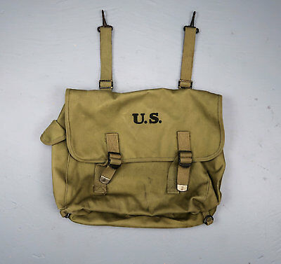 US Army military canvas bag WWII combat rubberized musset Airtress Midland 1942